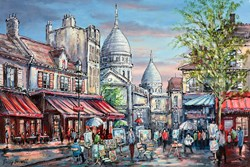Place Do Terte, Paris by Phillip Bissell - Original Painting on Box Canvas sized 36x24 inches. Available from Whitewall Galleries